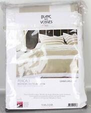 Blanc du Vosges Housse de couette linge de lit coton Blanc-Sable 240 x 220 cm ls3-bla