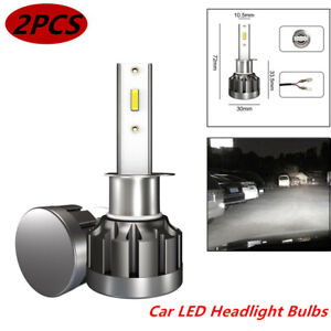 2X 9V-36V H1 200W 20000LM COB Car LED Headlight Bulbs Conversion Kit 6000K White