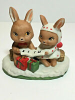 Treasure Masters Christmas Bunnies Singing Carols Rabbits Anthropomorphic VTG
