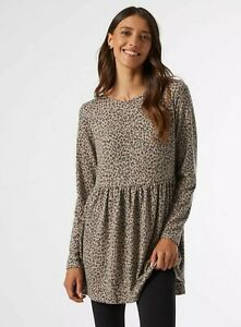 Dorothy Perkins Ladies Animal Print Soft Touch Tunic Size 14 Bnwt r.r.p £20