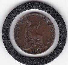 1884    Queen  Victoria   Half  Penny  Bronze  Coin