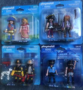PLAYMOBIL 5942 5816 5819 4913 Firemen Women pirates Two Duo Pack figure Toys lot