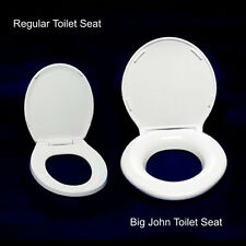 Big John Heavy Duty Raised Safety Bathroom Toilet Seat White 1200 lb. Capacity