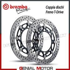 Paire Disques Frein Brembo T-Drive Pour Aprilia Tuono V4 1000 Ø320 2011 > 2014
