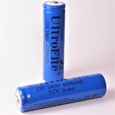 4 x ultro Fite azul 4200 mAh de iones de litio Batería 3,7 V/gh 18650 Li-ion Blue