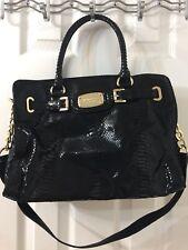 michael kors black handbag used