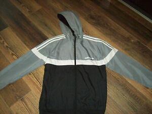 ADIDAS Reversible Hooded Coat Mens S Boys Age 15-16