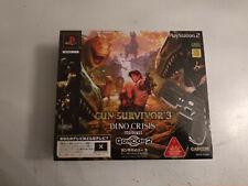 Coffret Gcon Guncon 2 Gun survivor Dino crisis 3 Sony Playstation 2 PS2 JAP