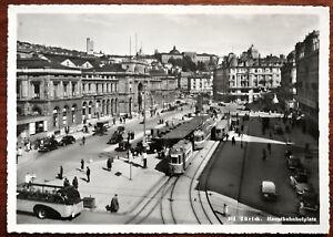 Zurich. Hauptbahnhofplatz. Switzerland. E. Furter, Zurich Vintage Postcard