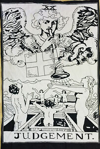 Poster Small Tarot Card The Judgement Design Cotton Fabric Tapestry Wonderful
