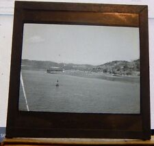 Antique Glass slide Coastline panama From Merchant Ship Panama  1930's