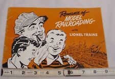 THE ROMANCE OF MODEL RAILROADING WITH LIONEL TRAINS POST WAR BOOK