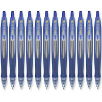 Pilot G6 RT Gel Ink Rolling Ball Pen, Fine Point, 0.7mm, Blue Ink, 12 Count