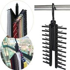 Adjustable 360° Rotating 20 Tie Belt Scarf Compact Hanger Rack Holder Organiser