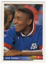 figurina CARD BASKET NBA 1992/93 NEW numero 154 ISIAH THOMAS