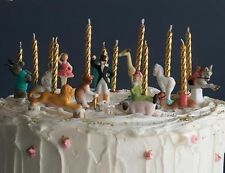 Victorian Trading Co Circus Birthday Cake Candle Holders (set of 12)  NIB