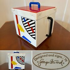 Vintage 1980's Georges Briard Memphis-Style Retro Square Ice Bucket Geometric