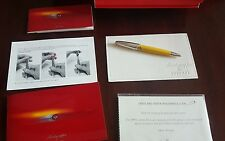 Montegrappa Ferrari Yellow Lacquer Rollerball Pen Limited Limited 450 Pieces