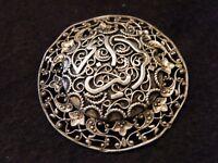 Broche en Argent Massif écriture Arabe Silver Silber