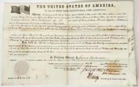 Land Grant 1859 Wausau WI President Buchanan War of 1812 Tenn Militia