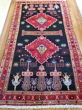 4.6 x 8.6 Vintage Veg Dye Caucasian Heriz Oushak Antique Serapi Kazak Shirvan