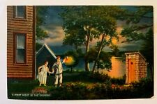 """Vintage 1940 Comic """"FIRST NIGHT IN THE COUNTRY !!"""" Linen Postcard 531"""