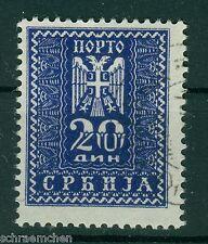 Deutsche Besetzung Serbien Portomarke 22 , o ,