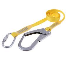 Safety Fall Protection Lanyard 1.8m Webbing Belt Climbing Descending Tools