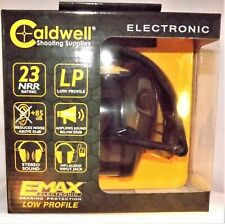 Caldwell E-Max Low Profile Stereo Electronic Hearing Protection 23Nrr w/Mp3 Jack