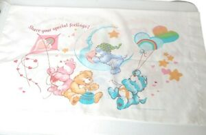 Vintage Care Bears Pillowcase Share Your Special Feelings Cheer Grumpy Wish Love
