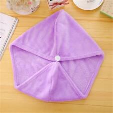 Spa Bath Quick Drying Microfiber Hair Towel Wrapped Turban Turbie Twist Hat Caps Purple