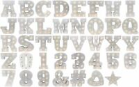 A-Z LED Wooden Stand Up Letters for Parties, Weddings, Decorations, Warm White