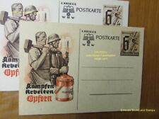 EBS Germany 1940 Postal Card Winterhilfswerk Kämpfen Arbeiten Opfern P291c