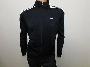 Felpa Adidas Uomo Taglia 48/50  Manica Lunga Sweater Hoodie Man Poliestere Nero