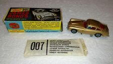 VINTAGE CORGI GOLD JAMES BOND'S ASTON MARTIN DB 5 #261 IN BOX WITH 2 GUYS
