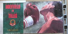 """Vintage Boxing Poster Evander Holyfield vs James """"Quick"""" Tillis1988 Illustrated"""