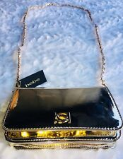 bebe Kylie Crossbody Bag Kylie Metallic Gold Chain Clutch NWT $68