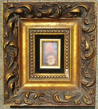 Russel Johnson, small O/C,1940s,old master style, handmade period frame,Ca.