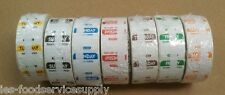 7 Day Food Safety Date Day Labels 1000 Label Per Roll Removable Color Coded Dot