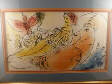 Marc Chagall Lithograph, The Accordeonist, 1957