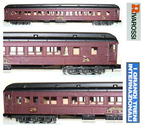 Rivarossi Railway Carriage Of Tail End-Car With False Lights Red Boston & Maine