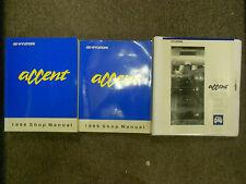 1996 HYUNDAI Accent Service Repair Shop Manual 3 VOL SET BOOK 96 FACTORY OEM