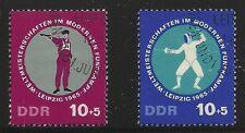 East Germany Scott #B135-36, Singles 1965 Complete Set FVF Used