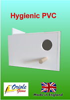 Budgie nest/breeding box removable MDF concave and perch Right hand hole