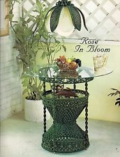 Rose in Bloom Macrame Table & Lamp Patterns - #OPUS4 Fiber Form & Fantasy 4