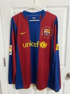 2007 FC Barcelona Match worn Lionel Messi Jersey Player issue Shirt Argentina