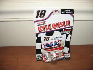 2020 Kyle Busch #18 Snickers White 1/64 Nascar Authentics Wave 7