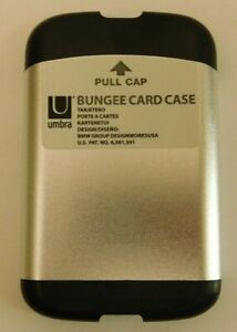 Umbra Bungee Card Case Translucent (Silver) / Black 460330-658 Bungee