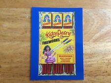 2017 WACKY PACKAGES 50TH ANNIVERSARY BLUE STICKER KATY PERRY FIREWORKS NICE RACK