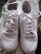 WOMEN'S REEBOK WHITE PRINCESS LEATHER TENNIS SHOES SIZE 7.5